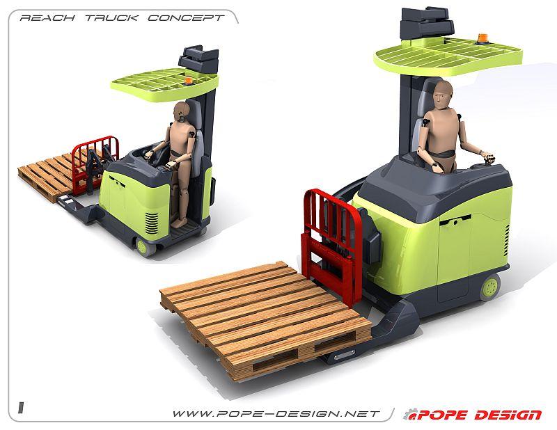 מלגזת היגש (Reach Truck)