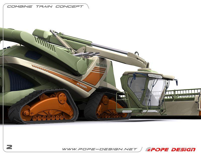 רכבת קומביינים (Super duty combine train) - כך רואה ג'ון פופ את עתיד התחום