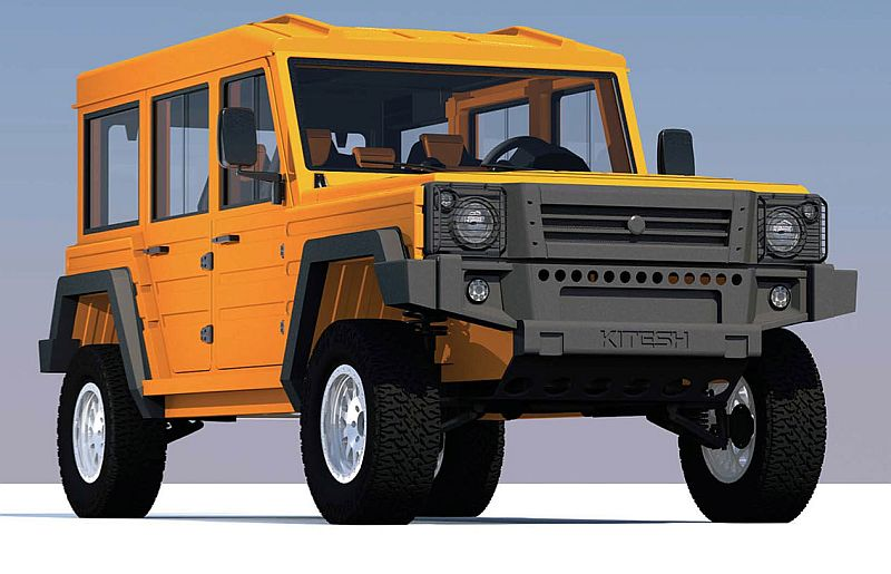Uniqueco Kitesh MPV - גרסת הנוסעים הסגורה