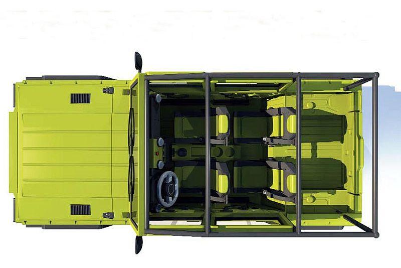 Uniqueco Kitesh Pickup - גרסת הנוסעים עם ארגז המטען הפתוח