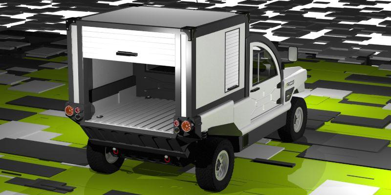 eFROOG KUBE-BOX עם ארגז נסגר מאחור ויכולת נשיאת מטען מרשימה ביותר