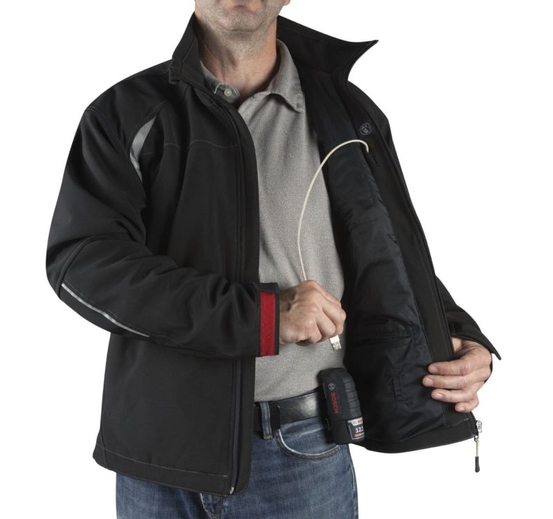 מעיל מתחמם 'בוש' PSJ120M כולל יחידת הפעלה/סוללות עם חיבור USB