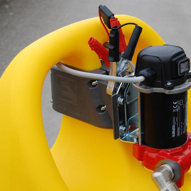 מיכל דלק נייד Emiliana Serbatoi עם משאבה חשמלית
