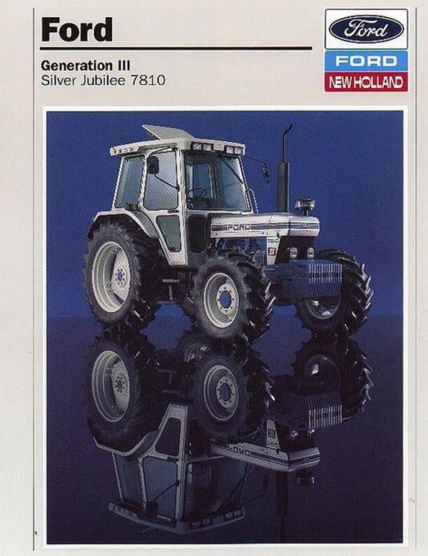 בדיוק לפני 25 שנה ציינו במפעל בבסילדון 25 שנות ייצור טרקטורים עם גרסת Silver Jubilee לפורד 7810