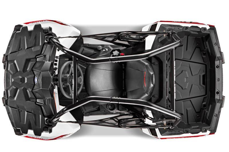 פולריס ספורטסמן ACE; כלוב הגנה יחד עם מושב לופת, חגורת בטיחות עם 3 נק' עיגון ורשתות צד מעניקות הגנה מרבית לנהג, גם אם אינו מיומן. כאופציה מוצעות דלתות קשיחות, שמשה וגגון