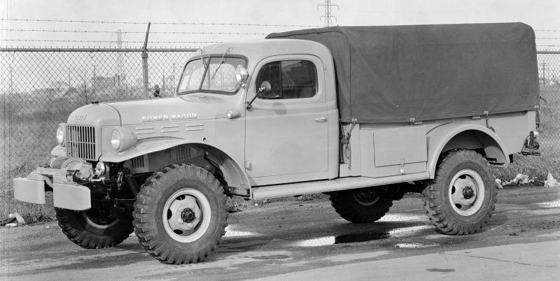 """אב טיפוס של 'פאוור וואגון' מ-1945, גרסה אזרחית של משאית צבאית קלה ששירתה במלחה""""ע ה-2 ושנים רבות אחריה את צבא ארה""""ב כמו גם צבאות רבים אחרים בעולם, כולל צה""""ל"""