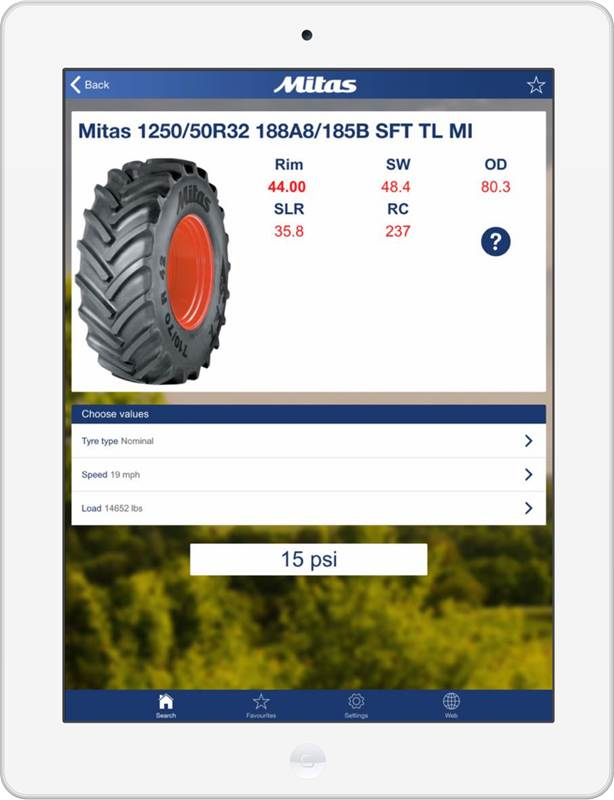 מיטאס מציגה: אפליקציה ללחץ האוויר המתאים בצמיג הטרקטור